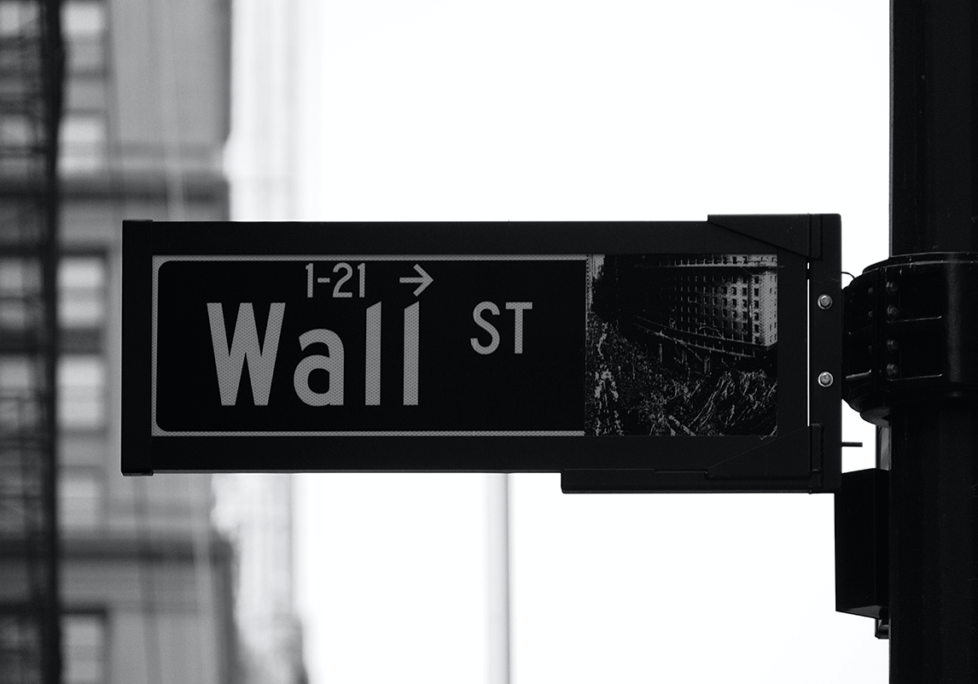 sign of Wall Street in NYC